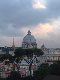 It was a rainy day in Rome yesterday, Wed., October 7